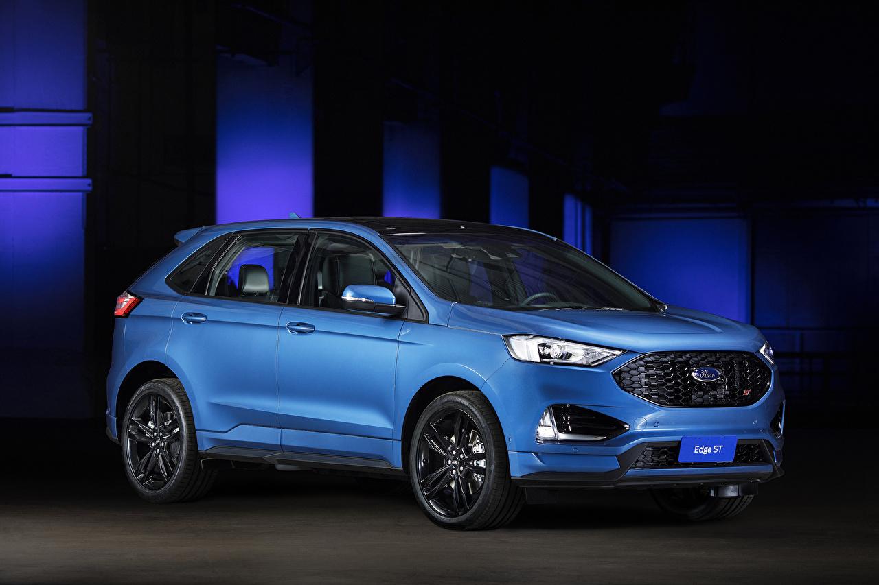 Photos Ford 2018-19 Edge ST Latam Light Blue auto Cars automobile