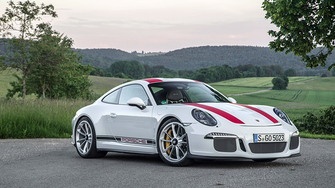 Photos Porsche 2016 911 R Worldwide White auto Metallic Cars automobile