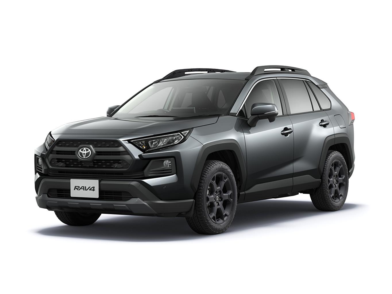 Photos Toyota RAV4 Adventure, Offroad Package, JP-spec, 2020 gray auto Metallic White background Grey Cars automobile