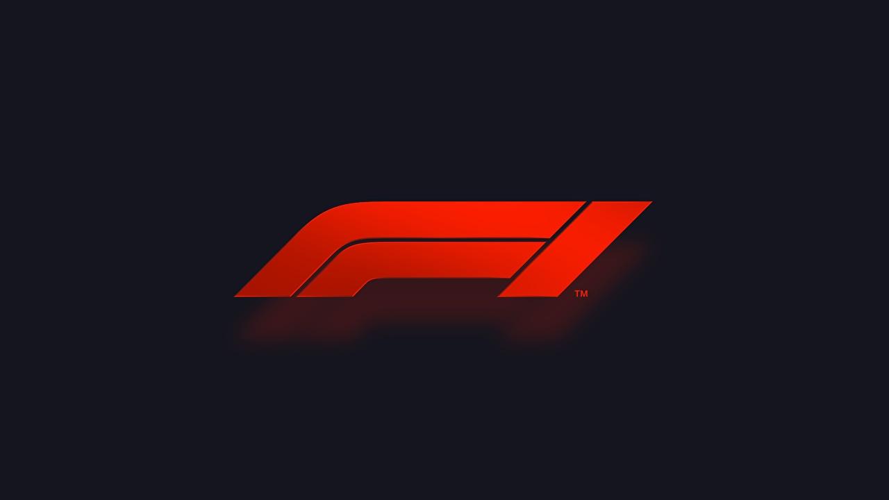 Bilder Logo Emblem Rot Formula 1 sportliches Schwarzer Hintergrund Sport Formel 1