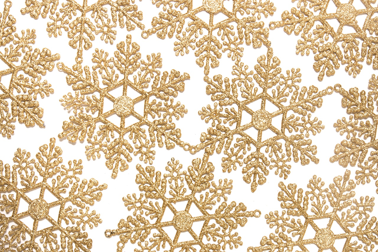 Images Texture Snowflakes Gold color