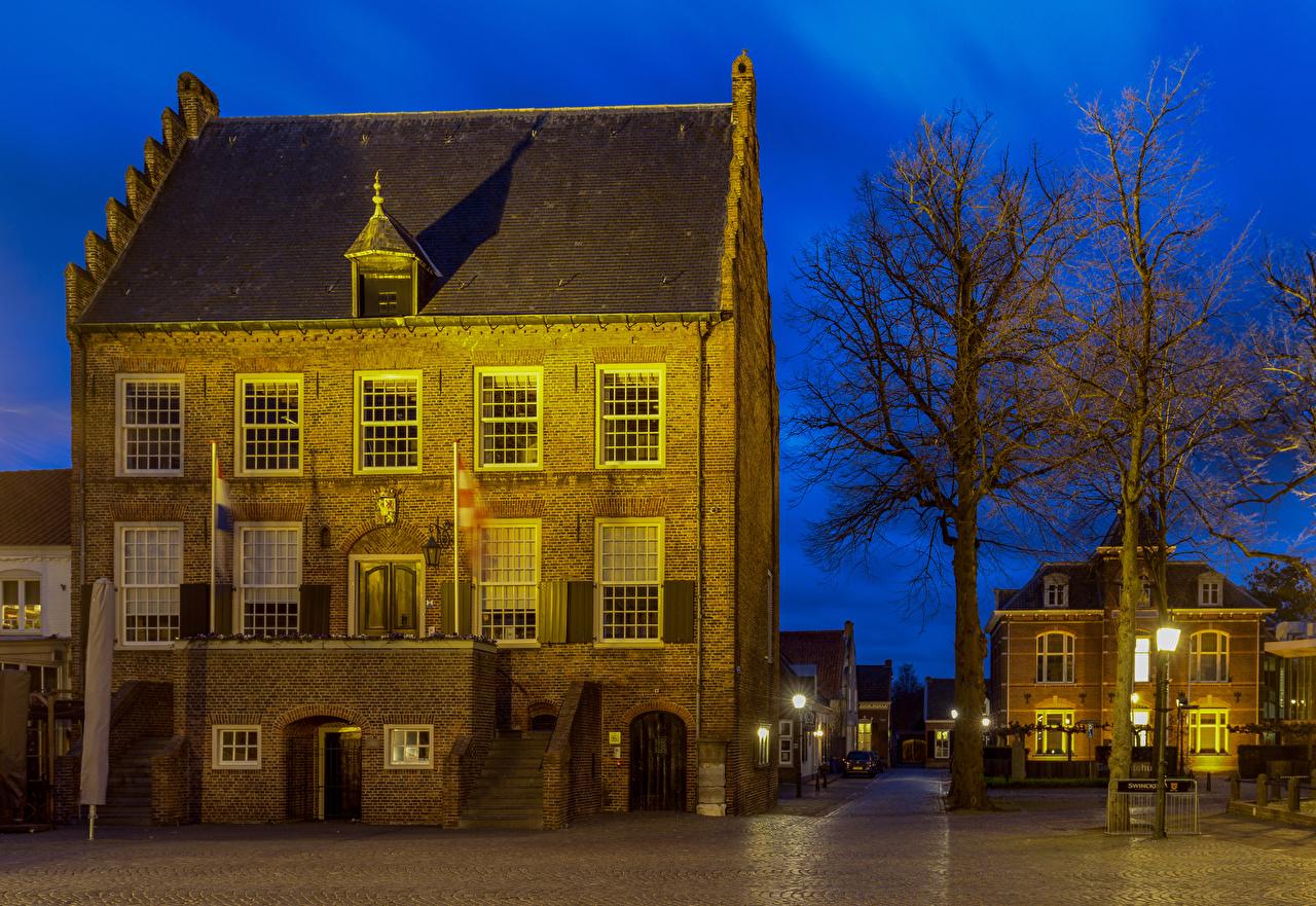 ,荷兰,房屋,Oirschot,树,街燈,建筑物,城市,