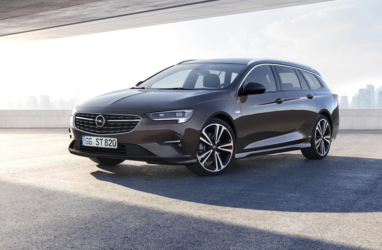 Picture Opel 2020 Insignia Sports Tourer Brown Cars Metallic auto automobile