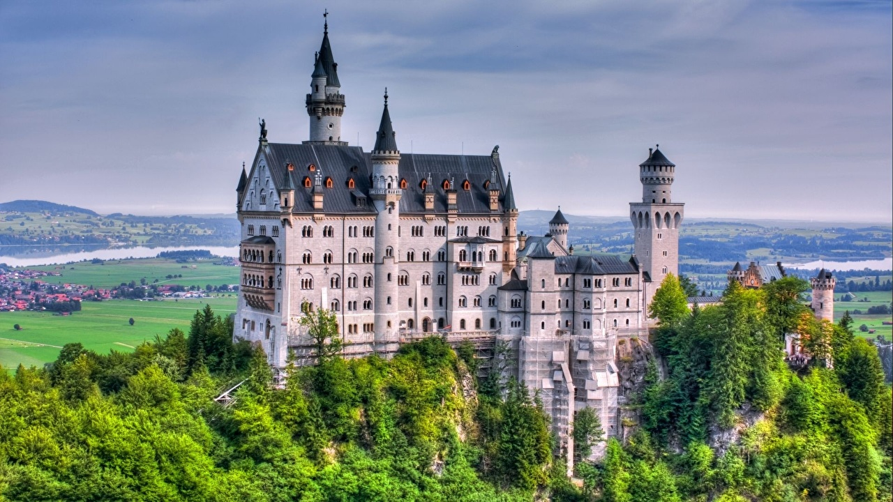 壁紙 城堡 新天鹅堡 德国 城市 下载 照片