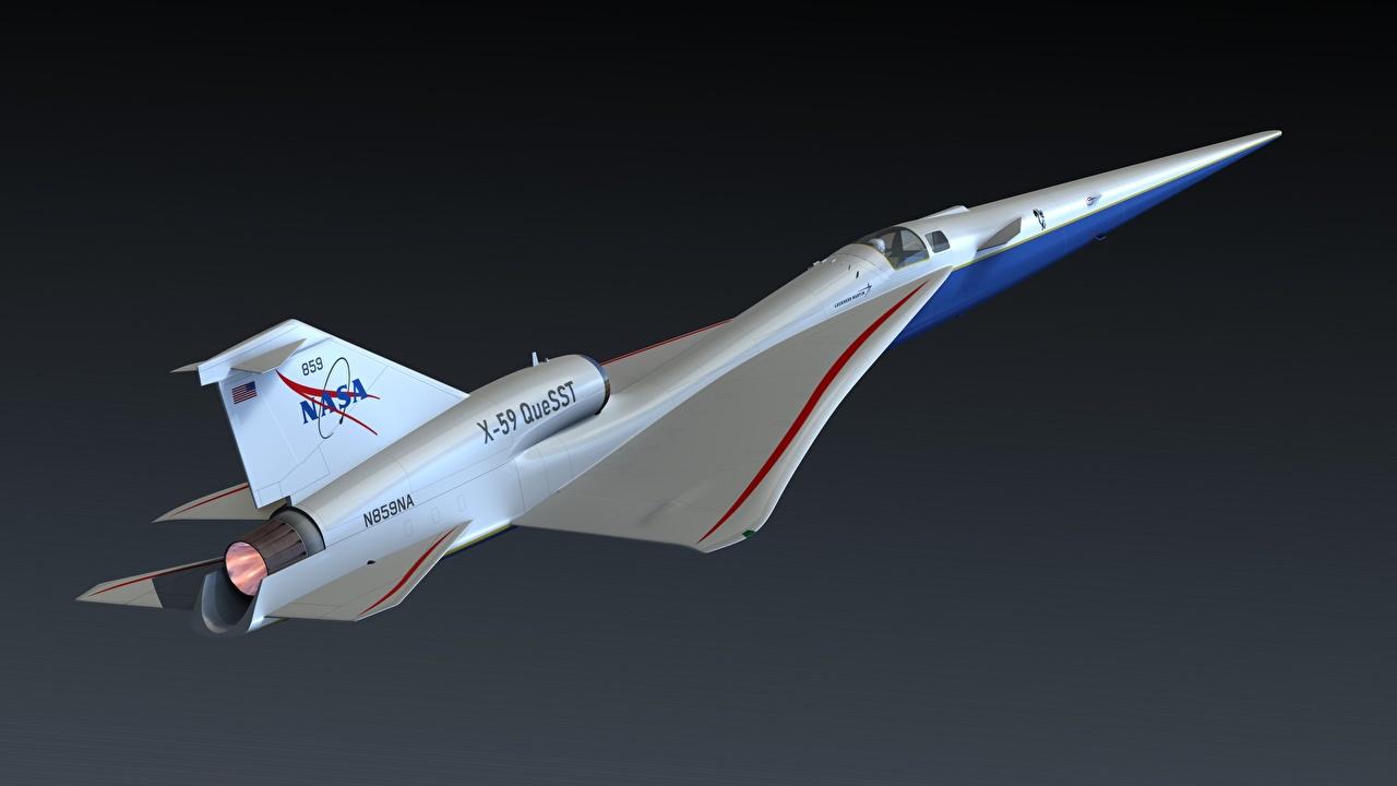 Fotos von Flugzeuge Lockheed Martin, X-59 QueSST 3D-Grafik Flug Luftfahrt