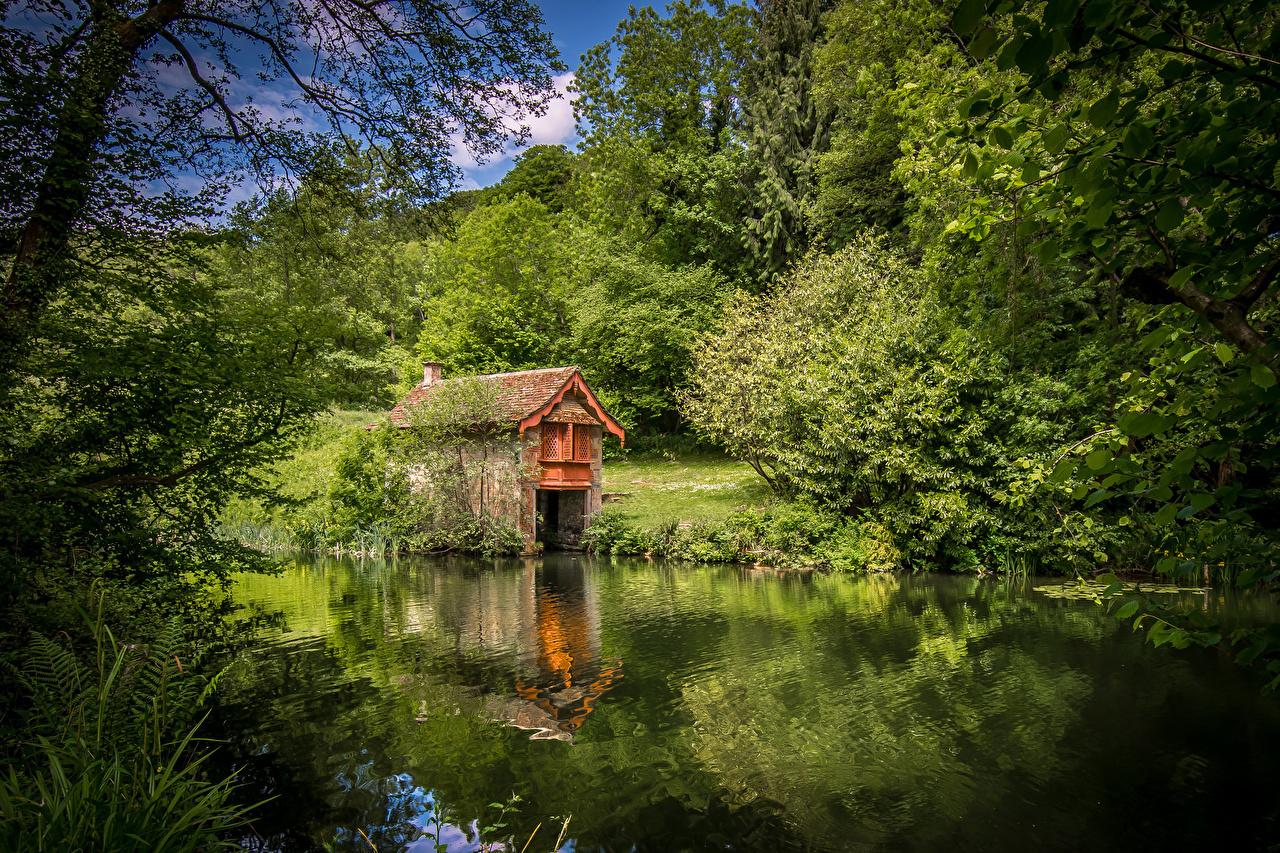 Bakgrunnsbilder til skrivebordet England Cotswolds Stroud District Natur skog Elver Elv Skoger