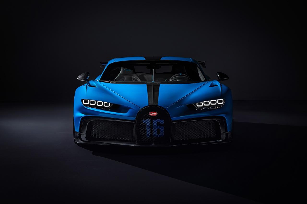 Image BUGATTI Chiron, 2020, Pur Sport Blue auto Front Metallic Cars automobile