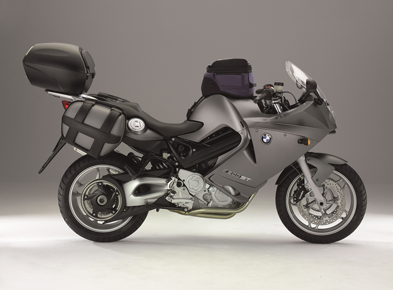 BMW - Motocyclette Gris Latéralement moto, motos, grise Motocyclette