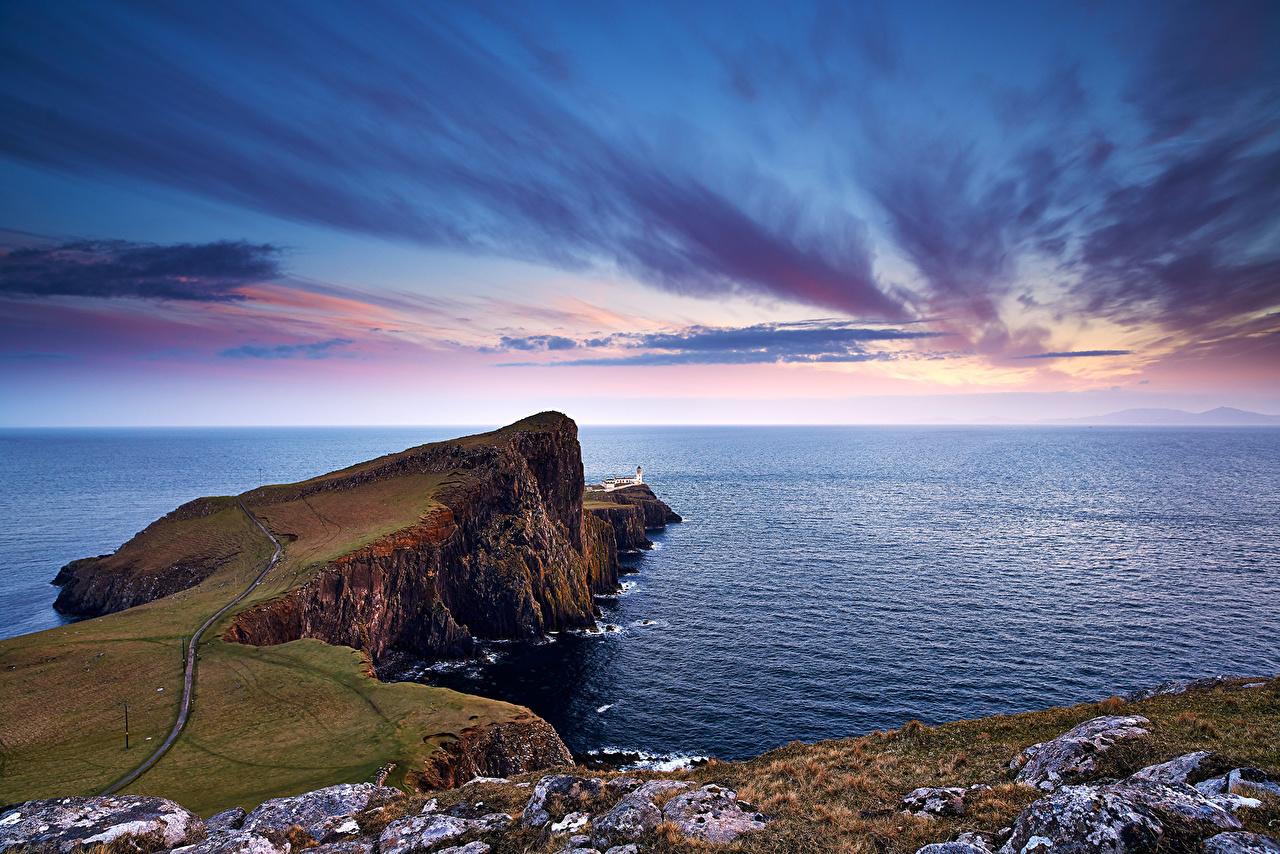 Immagine Scozia Neist Point Mare Natura Il dirupo Cielo alba e tramonto falesia Albe e tramonti