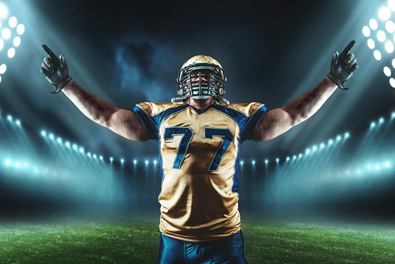 Bilder von Helm Mann Handschuh American Football Sport Hand Uniform