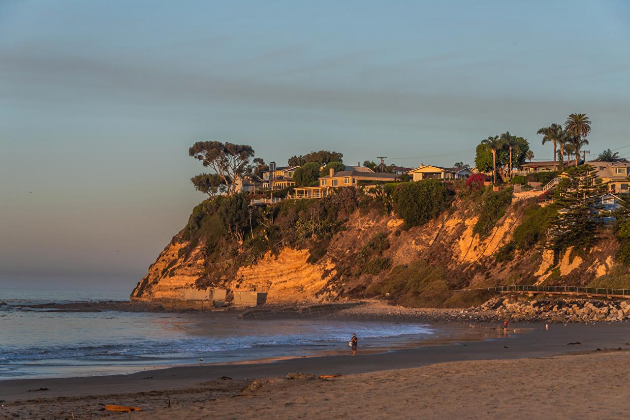 EE.UU. Costa Casa Cabrillo Beach in San Pedro California Roca Edificio, Estados Unidos, acantilado Naturaleza