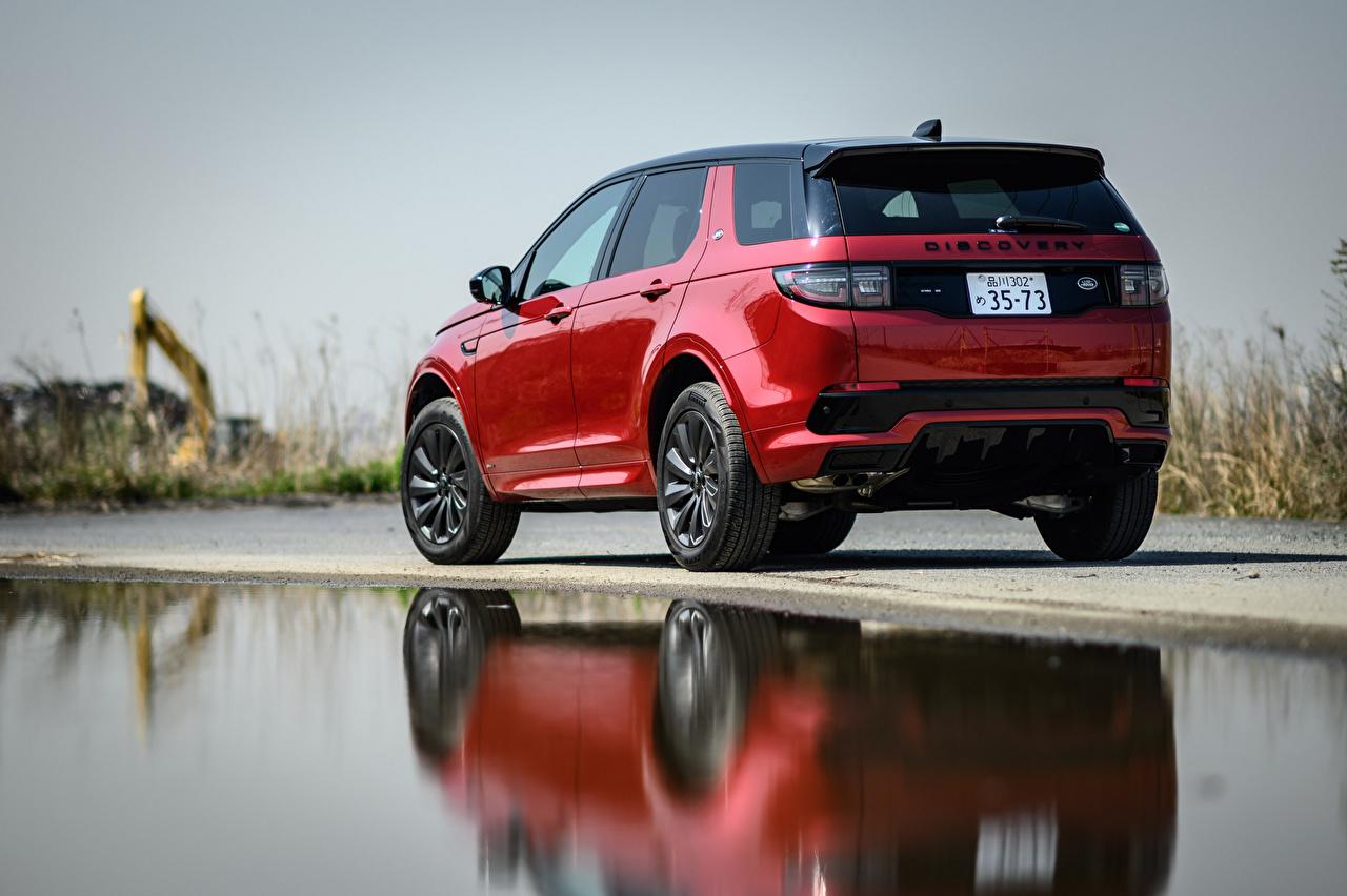 Tapeta Land Rover samochód terenowy Discovery Sport D180 SE R-Dynamic, JP-spec, L550, 2020 Czerwony Samochody Metaliczna Widok z tyłu SUV samochód