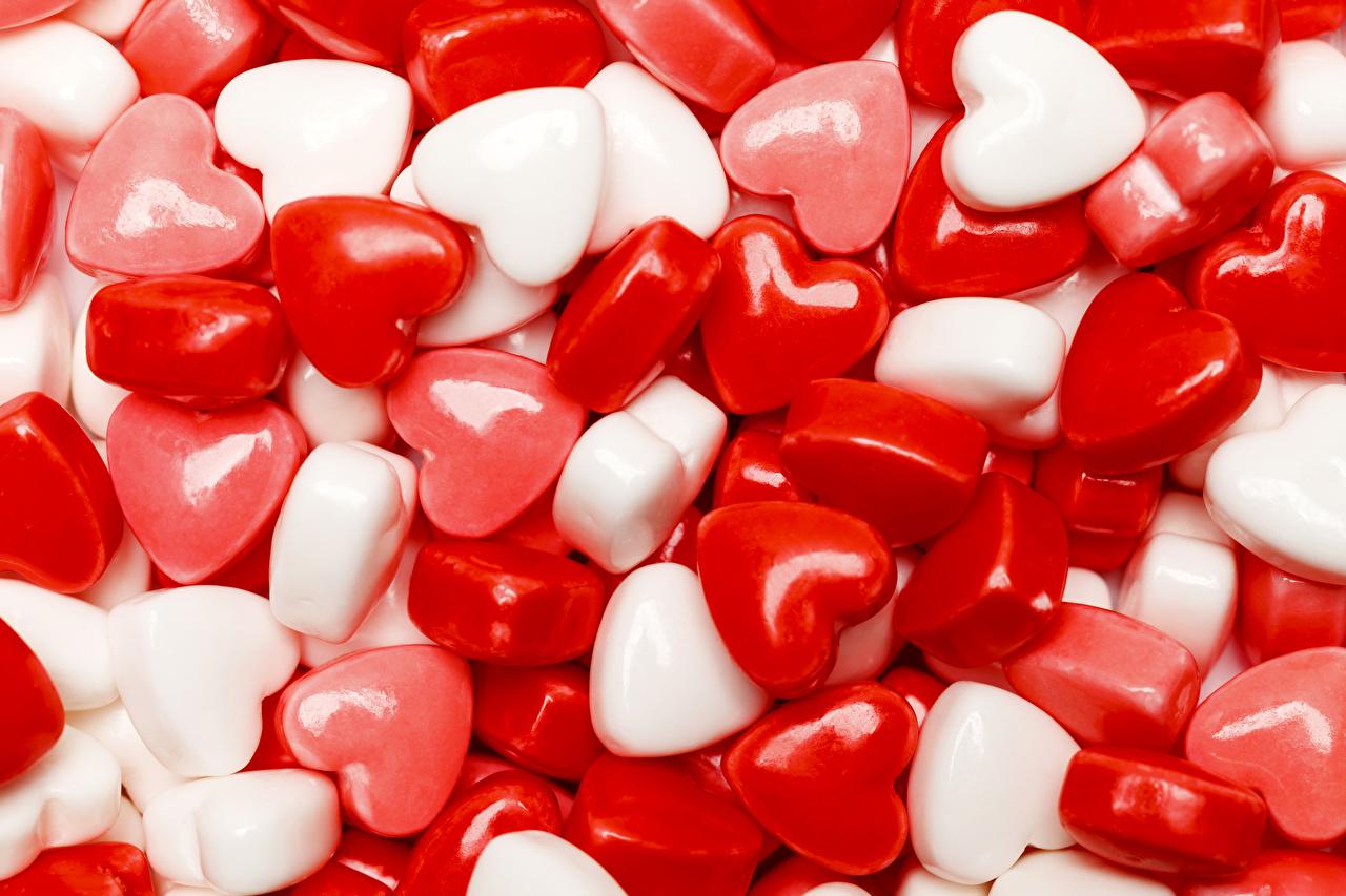 Fotos Valentinstag Herz Dauerlutscher Lebensmittel Süßigkeiten Süßware