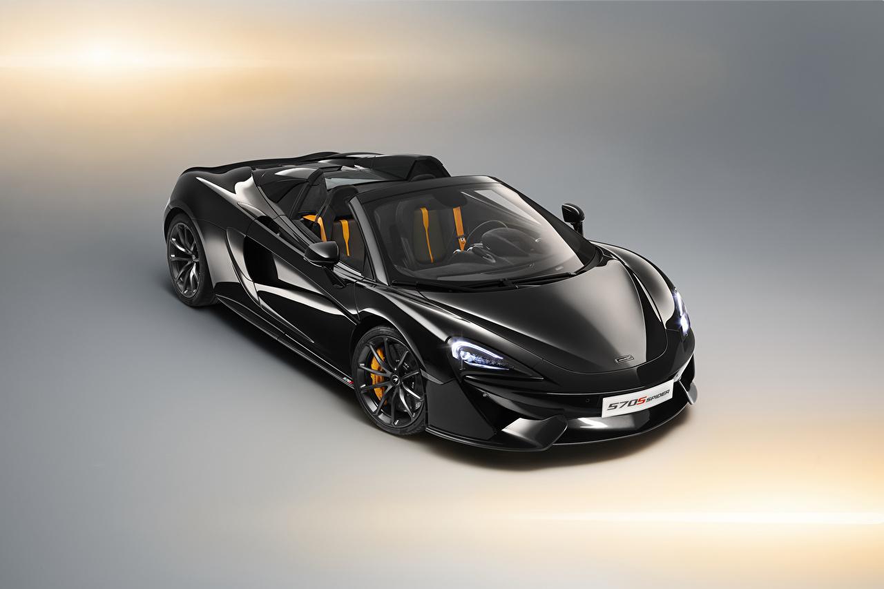 Images McLaren 570s Roadster Black auto Metallic Cars automobile