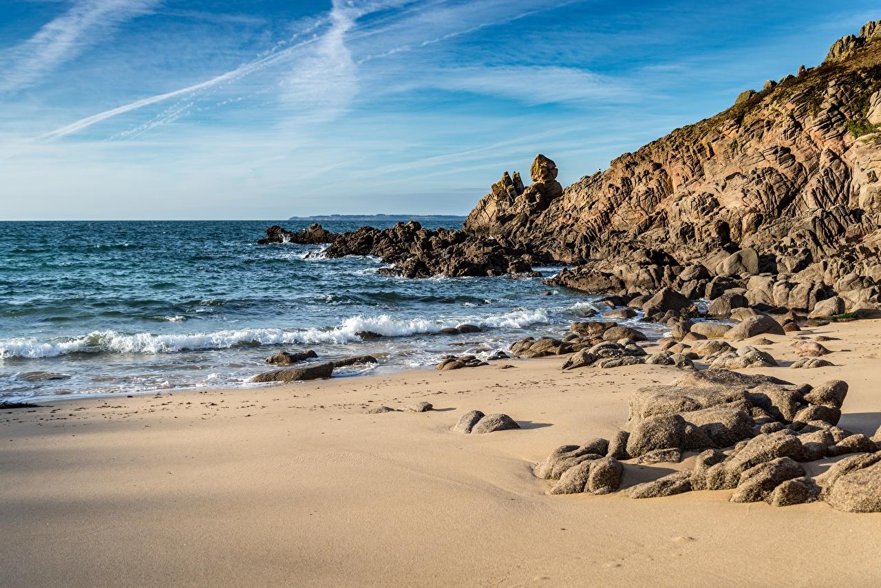 Picture beaches Sea Nature Waves Coast Stones Beach stone
