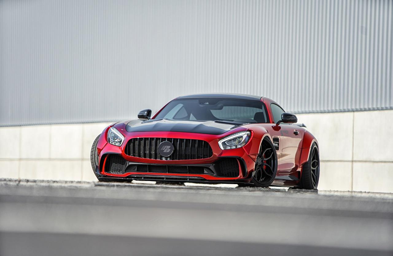 Bilder von Mercedes-Benz AMG GT Rot Vorne automobil Metallisch auto Autos