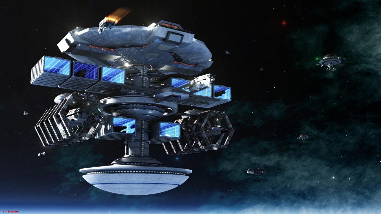 Photos Stars Space Fantasy ship Technics Fantasy Ships