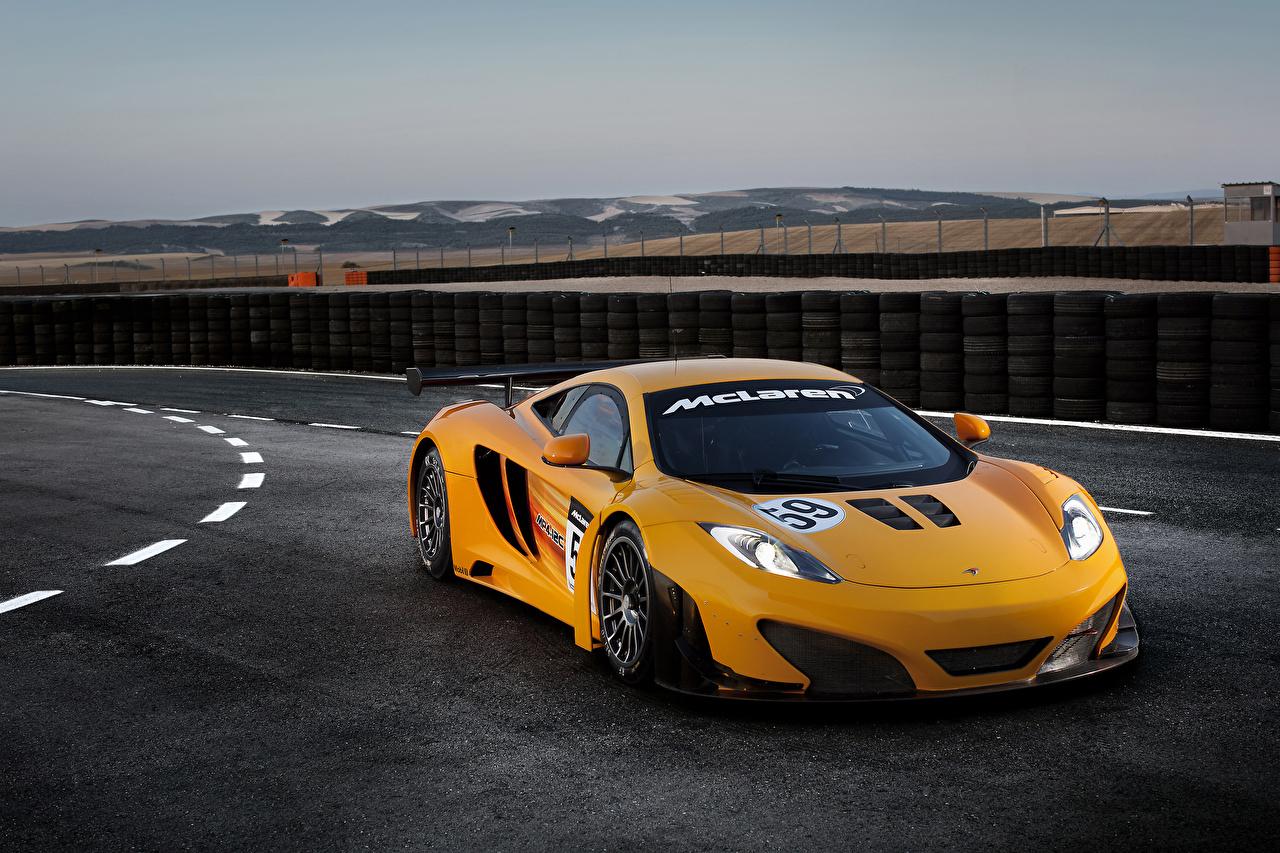 Bilder på skrivbordet Tuning McLaren 2011 MP4-12C GT3 revised Orange Bilar bil automobil