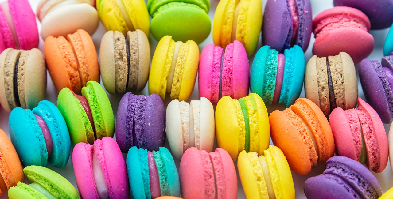Wallpaper Macaron Multicolor Food Cookies french macarons