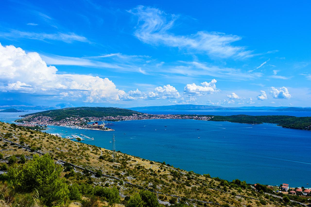Croácia Costa Atracadouros Trogir Baía Píer Naturaleza