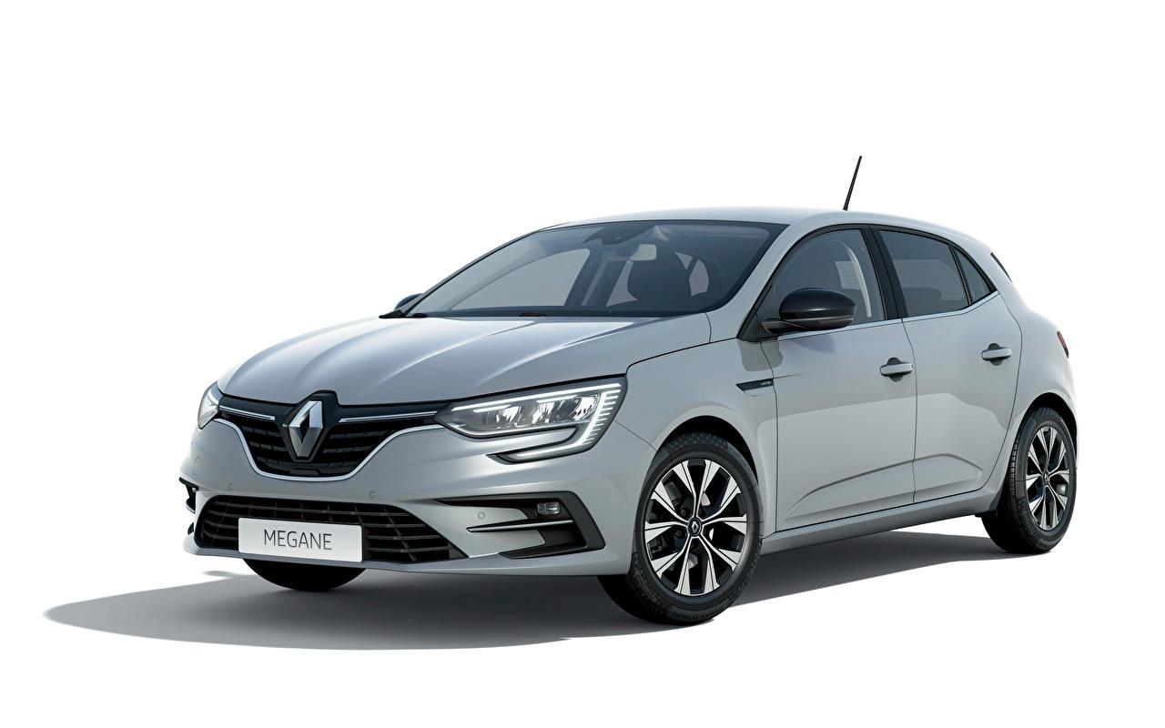 ,雷诺,Megane 'Limited', (FR-spec), 2021,灰色,金屬漆,白色背景,汽车,