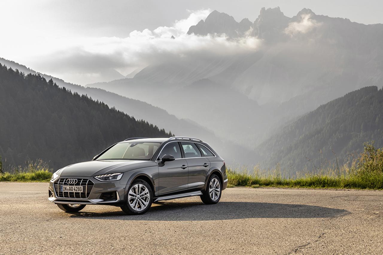Wallpaper Audi Estate car 2019 A4 allroad quattro Grey Metallic automobile Station wagon gray Cars auto
