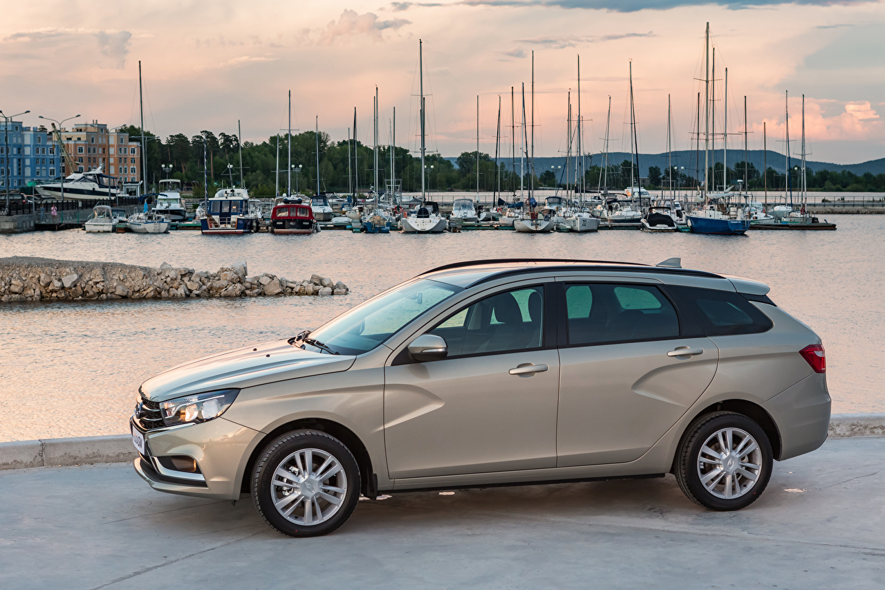 Images Lada 2017-18 Vesta SW Grey Metallic automobile gray Cars auto