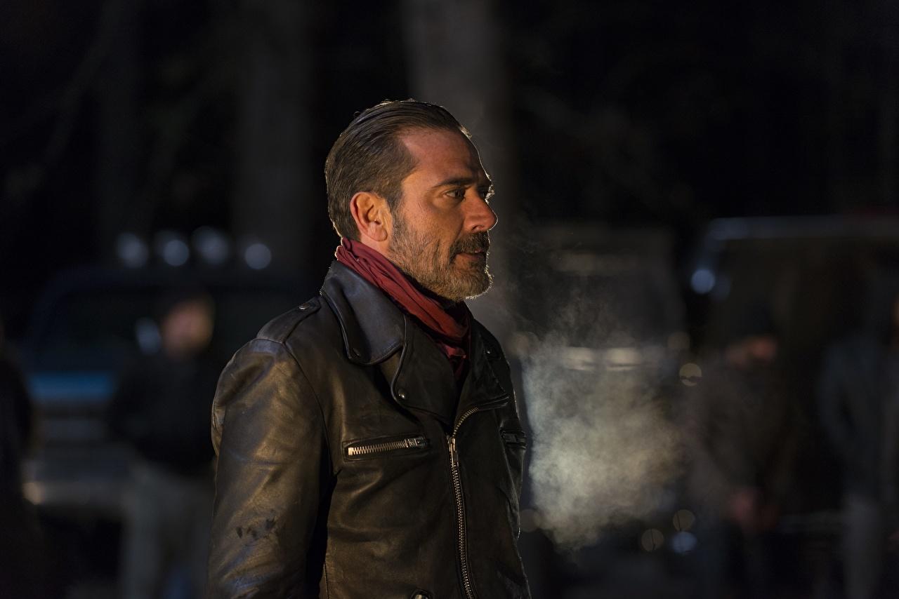 Image The Walking Dead TV Jeffrey Dean Morgan Man Season 6  Negan Jacket Movies night time Men film Night