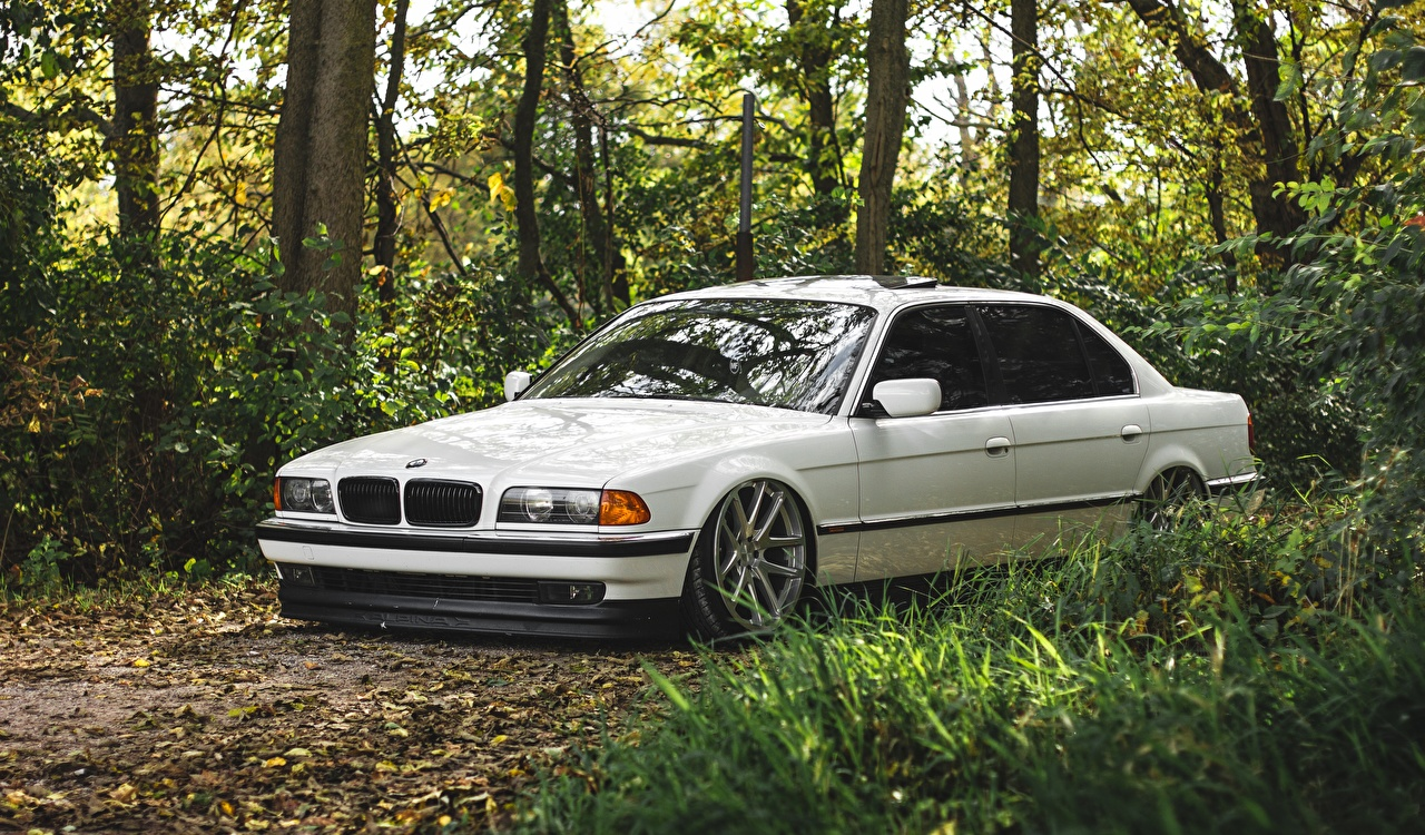 Picture BMW 7 series e38 White automobile Cars auto