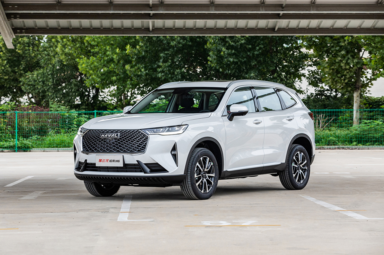 Wallpaper Haval Chinese Crossover H6 (B01), 2020 -- White auto Metallic CUV Cars automobile