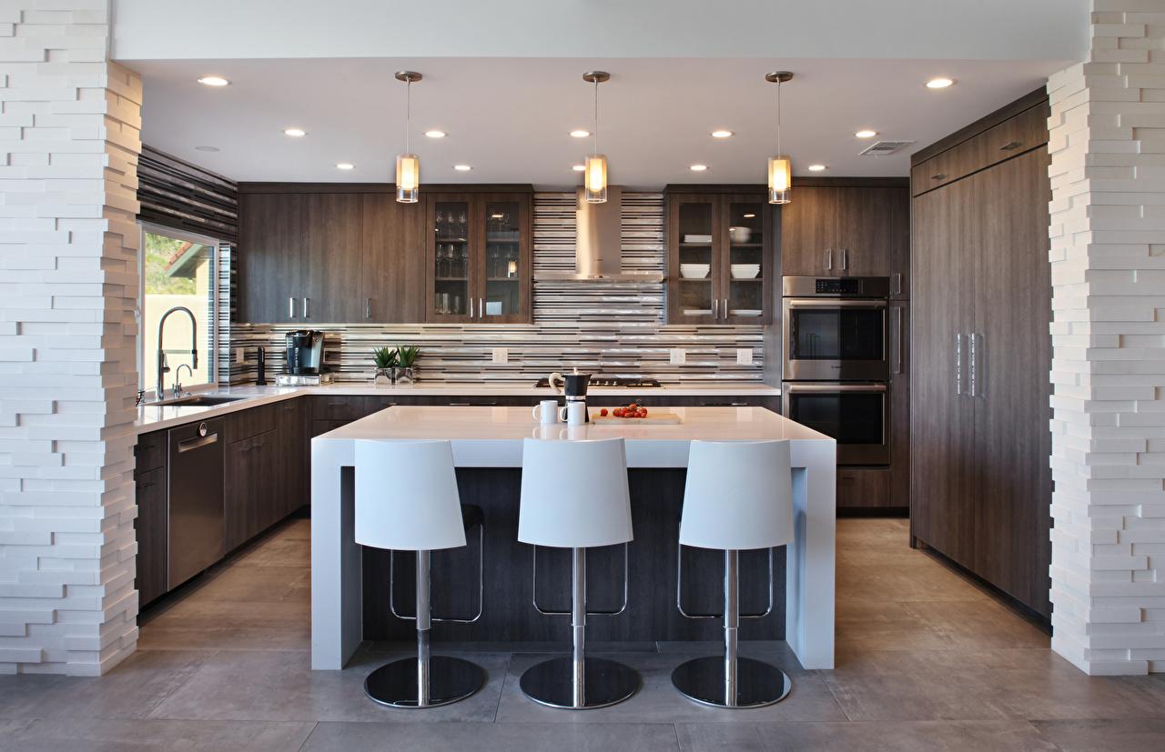 Foto Küche Innenarchitektur Stuhl Tisch Design Stühle