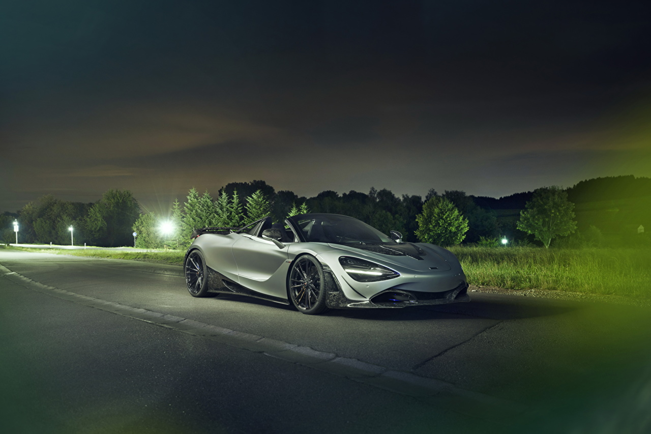 Desktop Wallpapers 2019-20 Novitec McLaren 720S Spider Cabriolet gray Cars Convertible Grey auto automobile