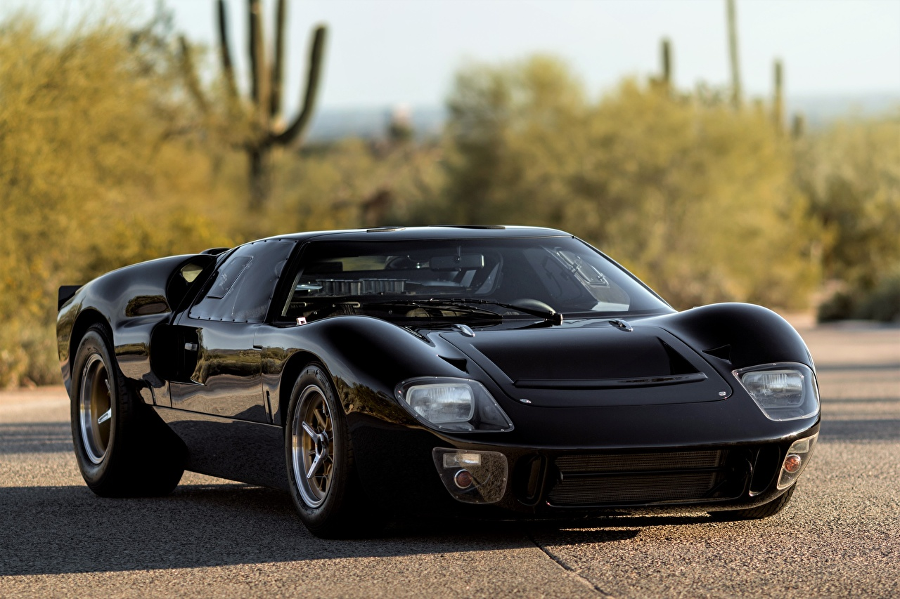 Desktop Wallpapers Ford GT40, Mk I, 1965 Superformance Black auto Metallic Cars automobile
