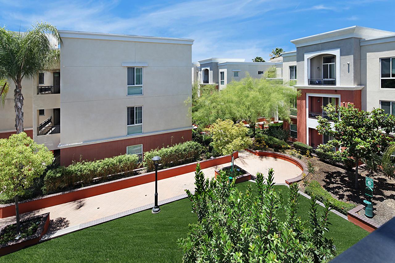 USA Maison Californie Gazon Bâtiment, États-Unis Villes