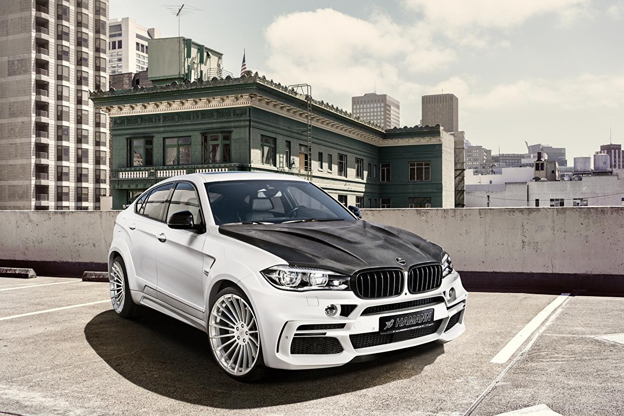 Picture Tuning 2016 Hamann BMW X6 M Widebody (F86) White Cars Metallic auto automobile