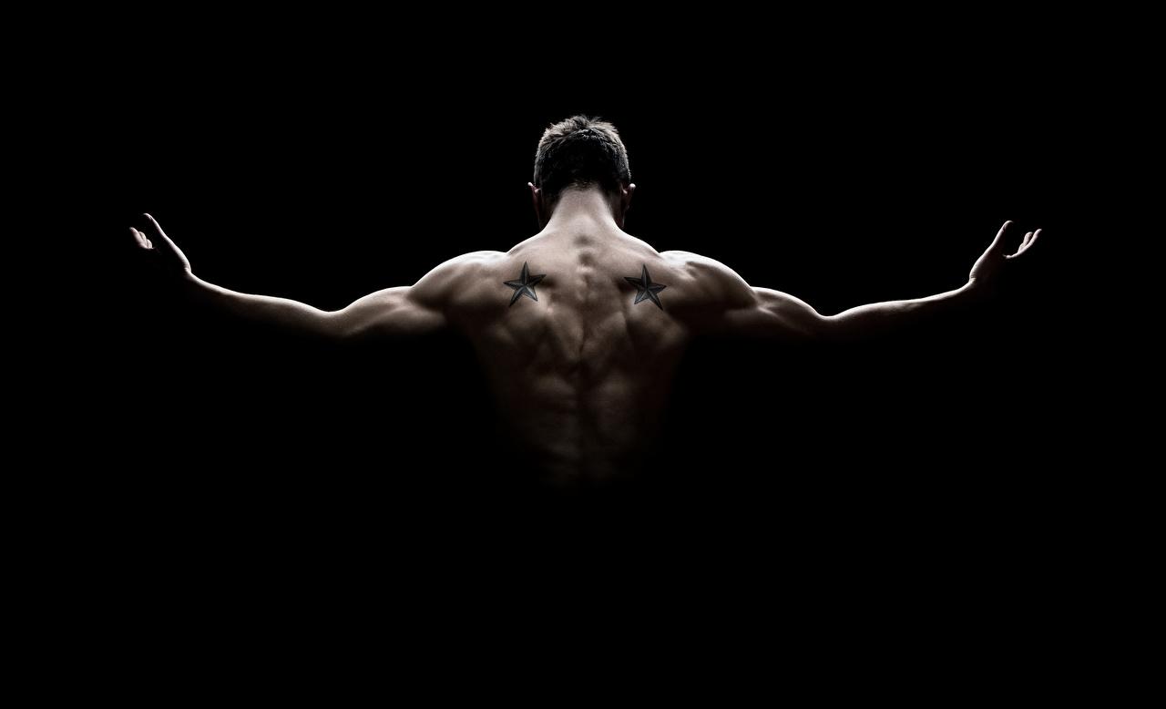 壁紙 男性 黒色背景 背中 筋肉 ダウンロード 写真