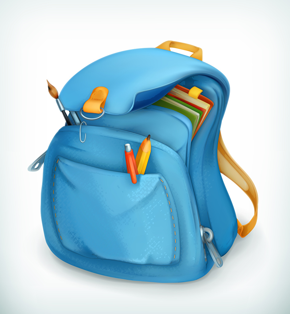 Photos Light Blue White background pencil Handbag School Vector Graphics Pencils purse
