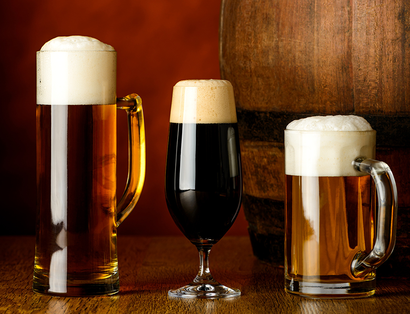 Images Beer Mug Foam Food Three 3 Drinks