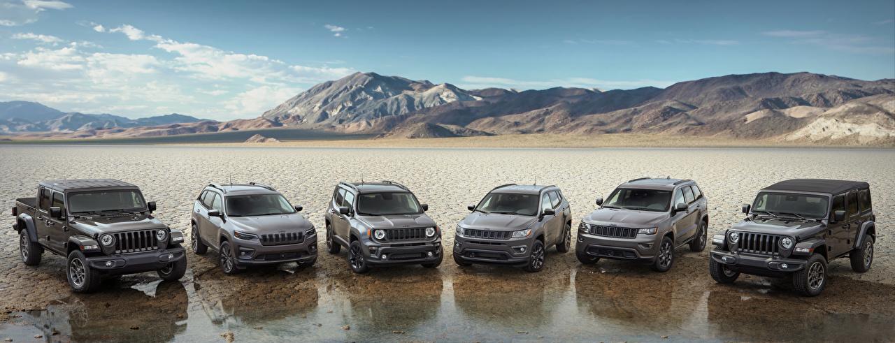 Picture Jeep Grand Cherokee, Compass, Wrangler, Cherokee, Renegade, Gladiator Grey Metallic automobile Many gray Cars auto