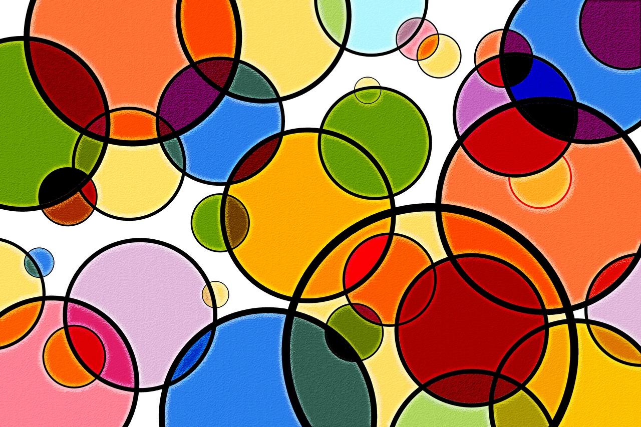 Bilder von Textur Kreis Bunte Geometrie Kreise Mehrfarbige