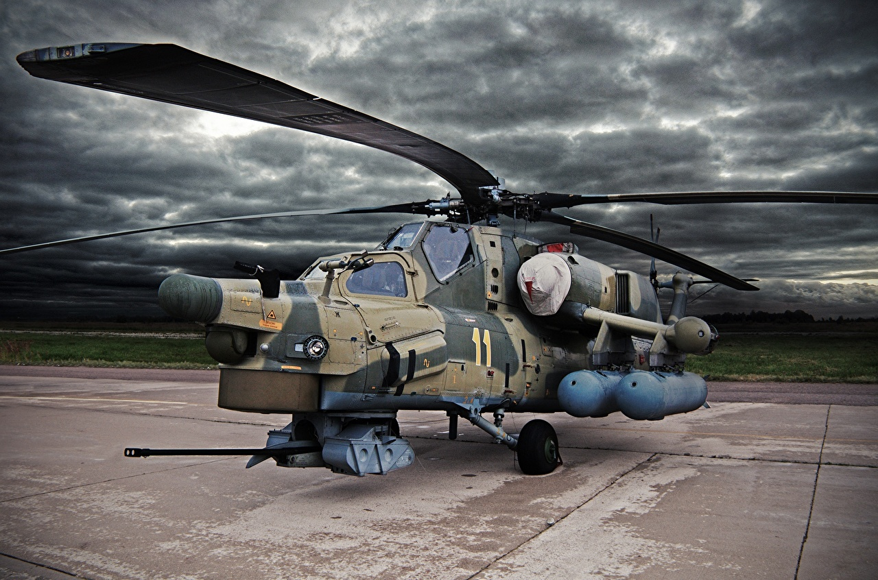 Desktop Wallpapers Helicopters Russian Mi-28N Aviation helicopter