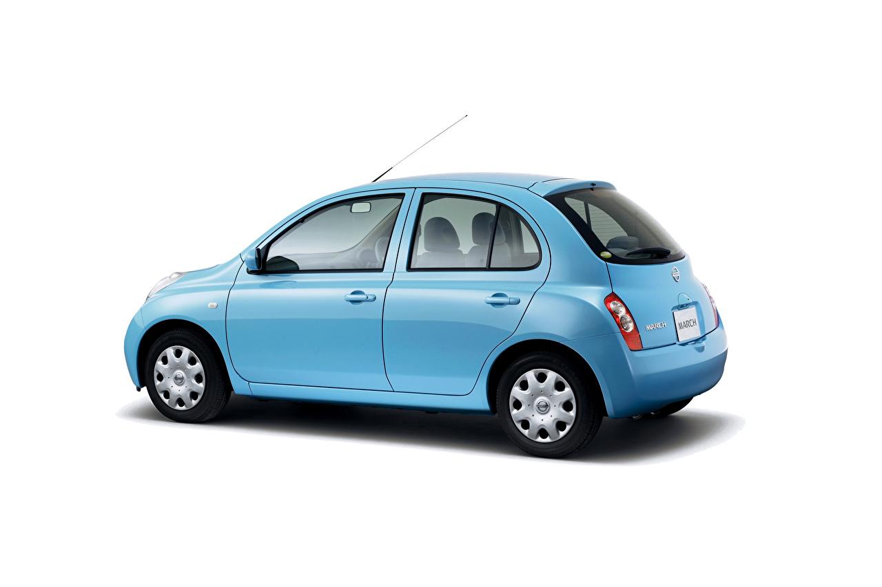 Fotos von Nissan Hellblau auto Metallisch Weißer hintergrund Autos automobil
