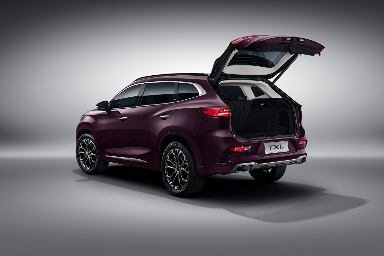 Photos Chery Chinese CUV Opened door Exeed TXL, 2019 Metallic automobile Crossover Cars auto