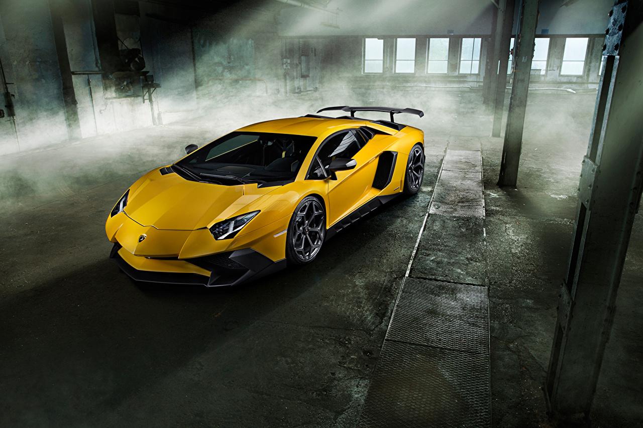 Wallpaper Tuning Lamborghini 2016 Novitec Torado Aventador LP 750-4 Superveloce Yellow automobile Cars auto