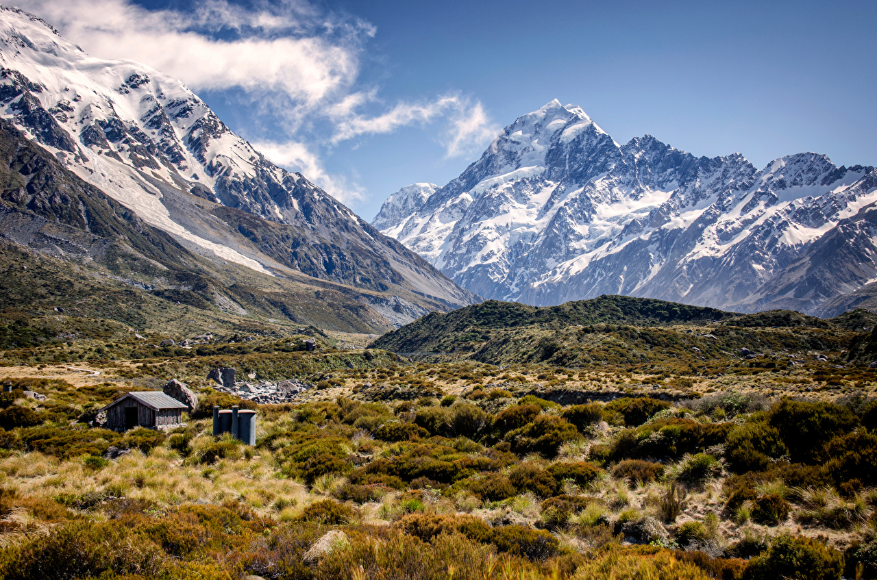 Photo New Zealand Mount Cook Valley Nature mountain Scenery Mountains landscape photography