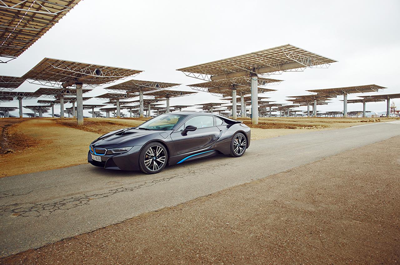 Photo BMW 2015 i8 gray Cars Metallic Grey auto automobile