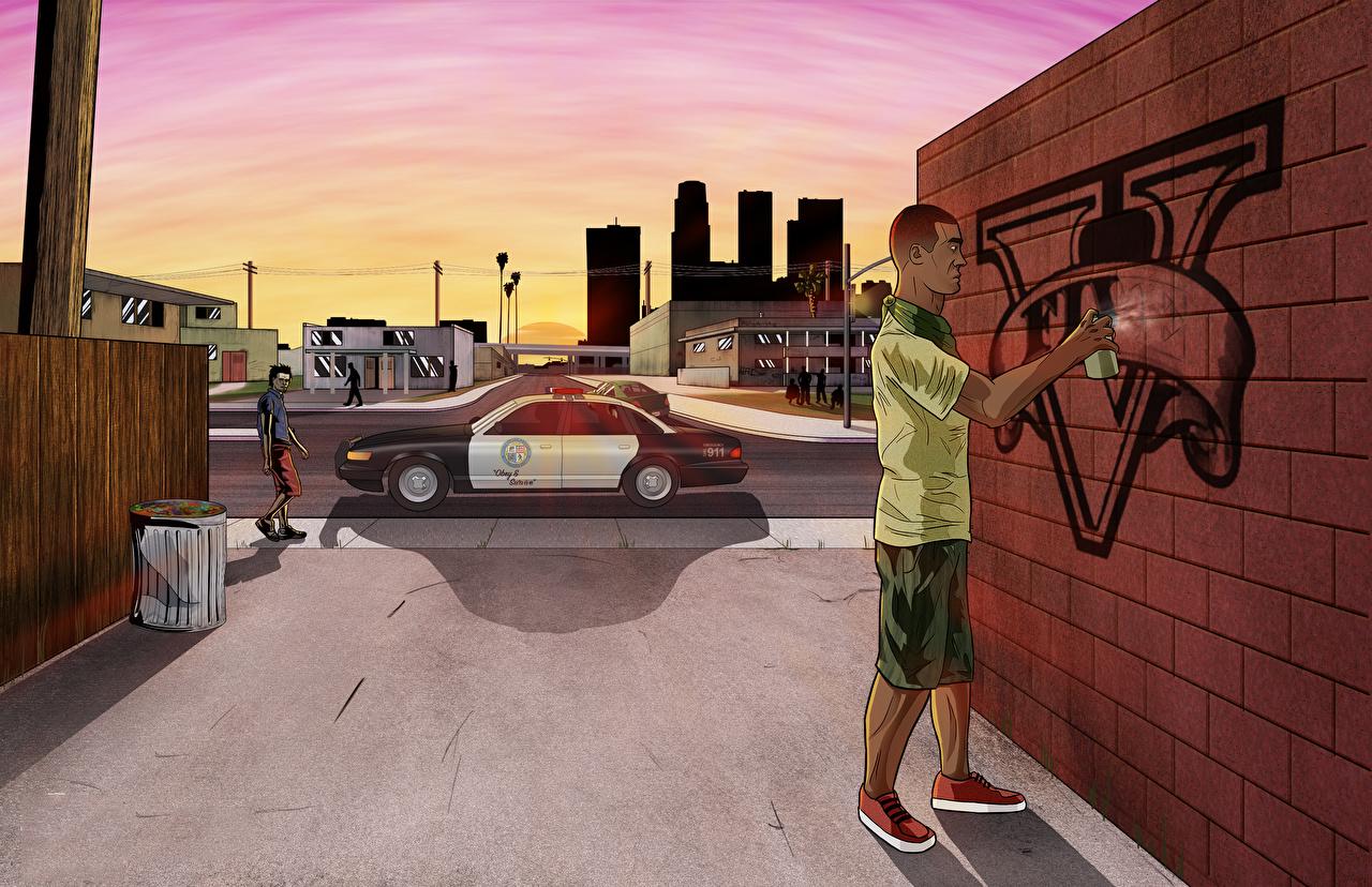 Fonds d'ecran GTA 5 Graffiti Image vectorielle Police Jeux télécharger photo