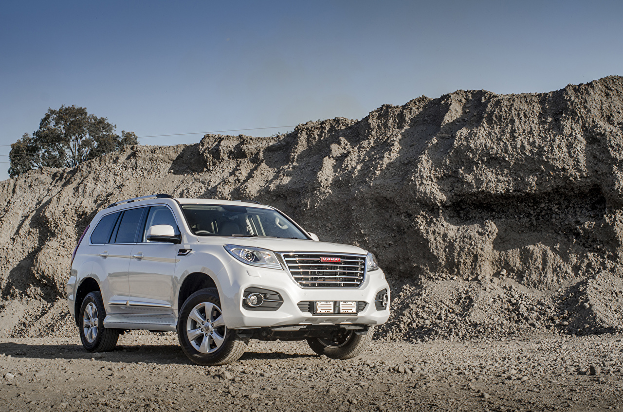 Desktop Hintergrundbilder Haval SUV Weiß Autos Metallisch Sport Utility Vehicle auto automobil