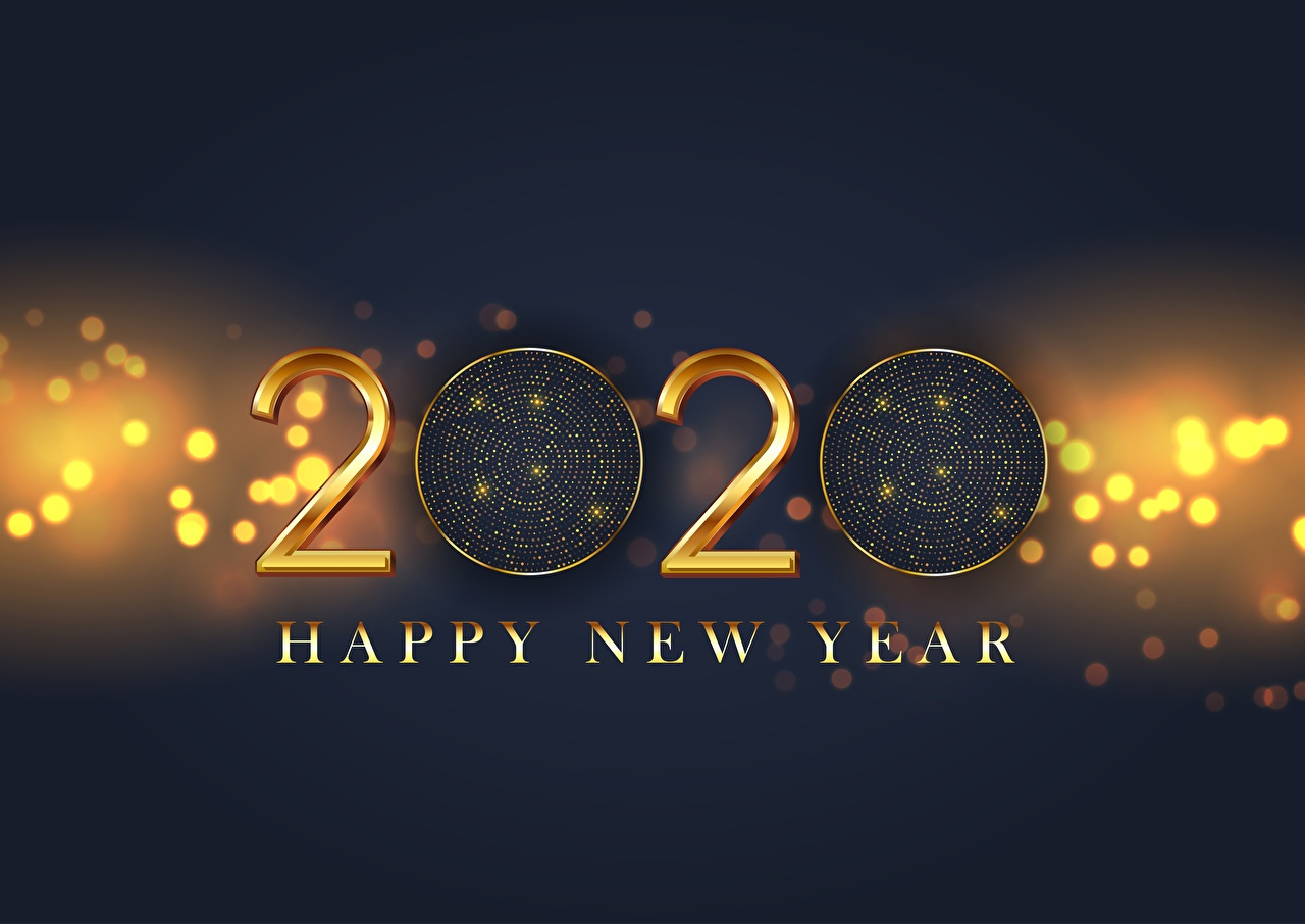 Image 2020 New year English Word - Lettering Christmas text lettering