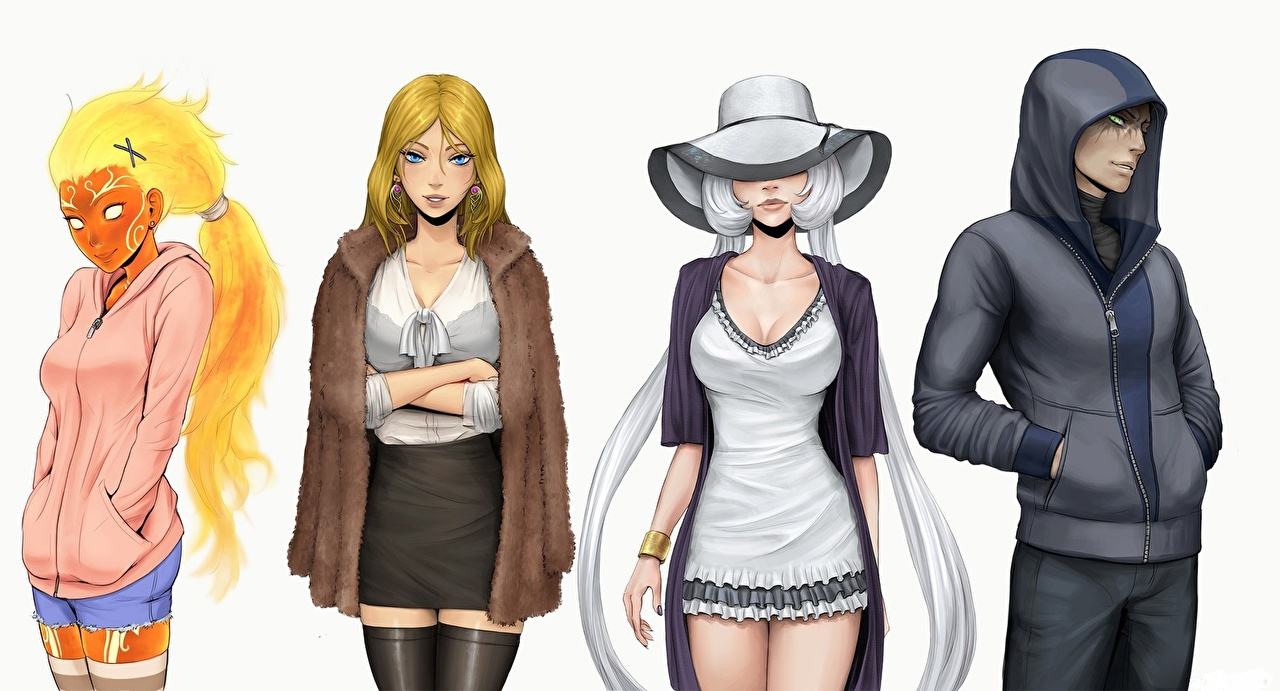 Homem Smite, Sol, Aphrodite, Nox, Loki Capuz Chapéu Cabelo loiro Meninas Fundo branco videojogo Jogos Fantasia